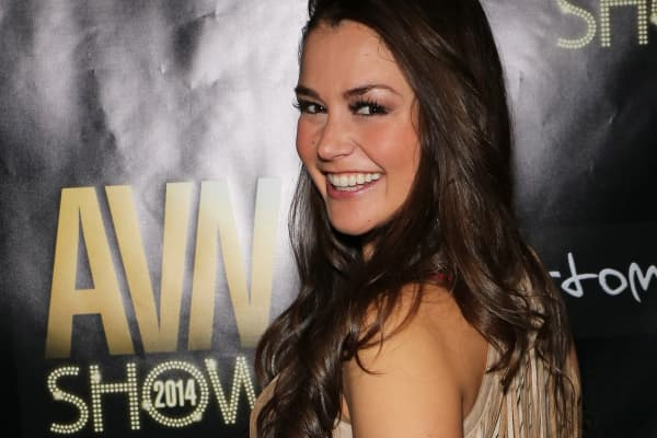 Adult film star Allie Haze attends the 2014 AVN Adult Entertainment Expo at the Hard Rock Hotel & Casino on January 16, 2014 in Las Vegas, Nevada.