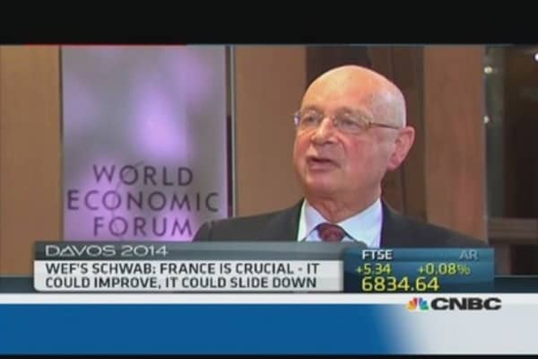 Middle East, Africa are 'hot spots': WEF's Schwab
