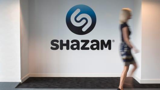 Inside the Shazam Entertainment Ltd. headquarters in London.