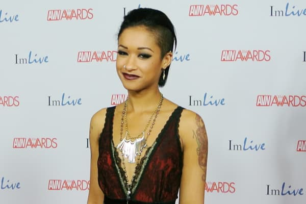 Skin Diamond on the red carpet at the 2014 AVN Awards in Las Vegas.