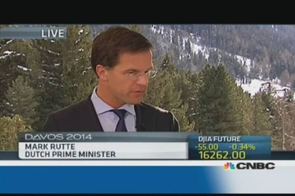 Europe needs to 'continue with austerity': Dutch PM