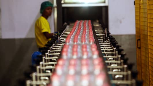 Soda production line