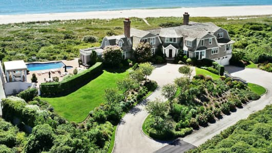 This beachfront home in South Hampton is currently on the market for $45 million.