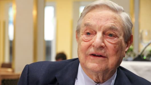 George Soros attends the 2014 WEF in Davos, Switzerland.