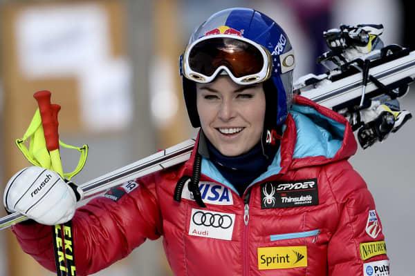 Downhill skier Lindsay Vonn