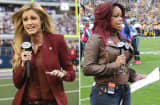 Reporters Erin Andrews and Pam Oliver.