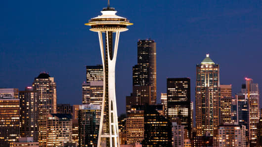 Skyline, Seattle, Washington.