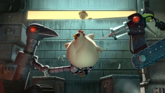 "A scene from ""The Scarecrow,"" one of Chipotle's animated shorts."