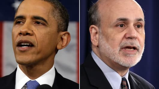 President Barack Obama and Federal Reserve Chairman Ben Bernanke.