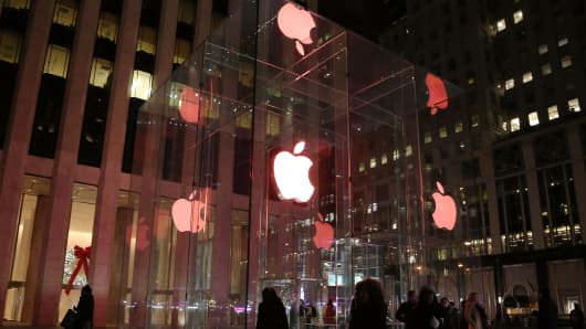 The Apple Flagship Store in NYC.