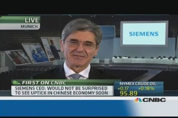 I'm not concerned about EM slowdown: Siemens CEO