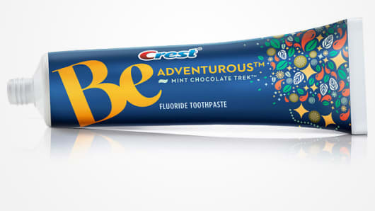 Crest introduces new toothpaste flavors, including Mint Chocolate Trek.