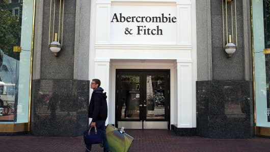 Abercrombie's sales beat on demand for Hollister brand