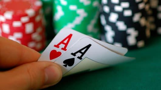Gambling casino cards chips