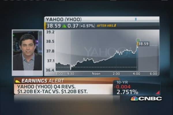 Yahoo Q4 earnings out