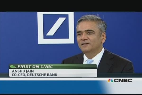2015 targets 'highly achievable': Deutsche co-CEO
