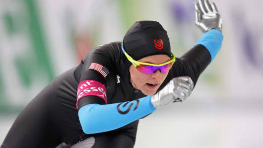 Brittany Bowe of the United States competes in the women's 1000-m Division A race at the Essent ISU World Cup on Dec. 8, 2013, in Berlin.