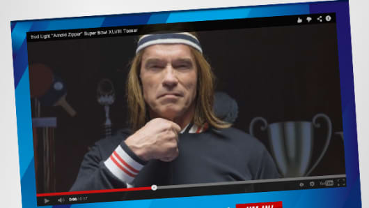 The Bud Light Super Bowl ad, featuring Arnold Schwarzenegger, on YouTube
