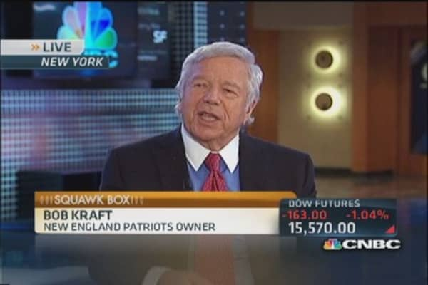 Patriots' Kraft: US not creating jobs like we should