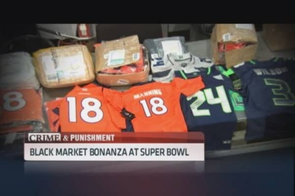 Black market bonanza at the Super Bowl