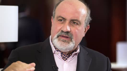 "Nassim Taleb, author of ""Black Swan: The Impact of the Highly Improbable"""