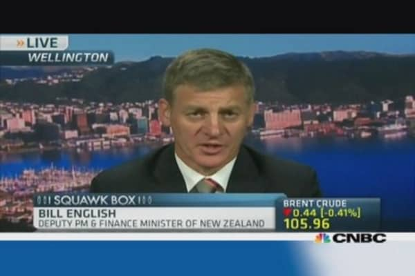 New Zealand Fin Min: Need to sustain high growth