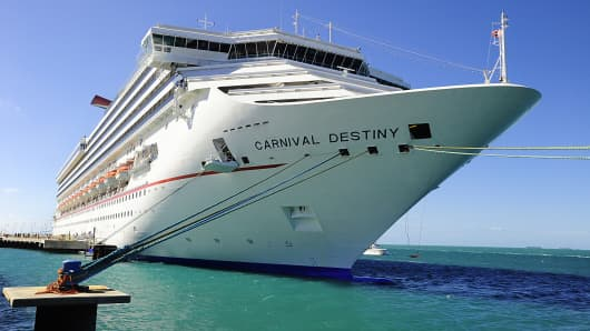 Carnival cruise ship Destiny in port in Key West, Fla.
