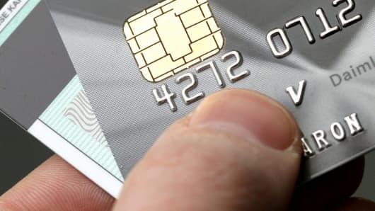 Visa smart card with Europay, MasterCard and Visa chip, which replaces the magnetic strip.