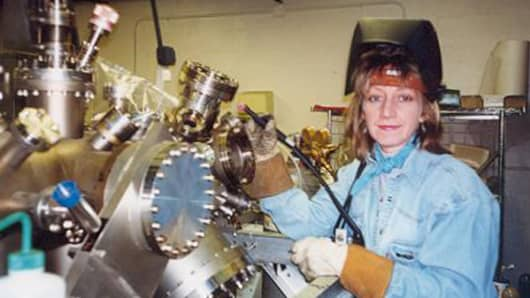 Becky Lorenz—who runs her own shop, Aerospace Welding Services in Silver Spring, Md.—is among America's few female welders and machinists.