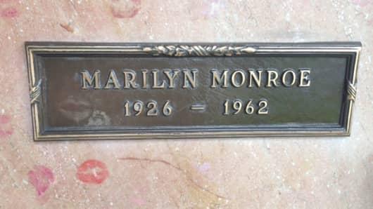 Marilyn Monroe's gravesite in Westwood Village Memorial Park Cemetery.