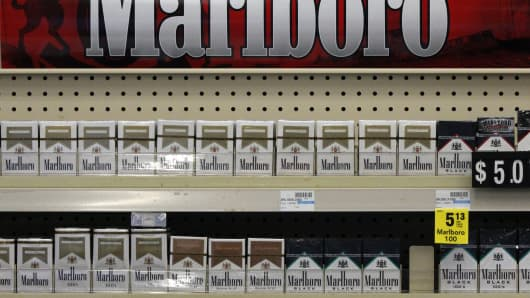 Marlboro cigarettes are on display in a CVS store in Pittsburgh. CVS is planning to stop selling tobacco products.