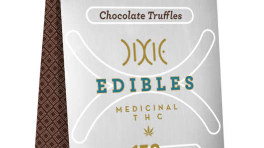 Dixie Edible Truffles with medicinal THC.