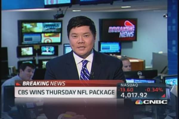 CBS wins Thursday NFL package