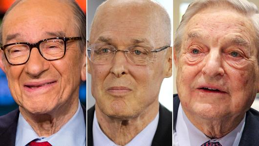 Alan Greenspan, Hank Paulson and George Soros.