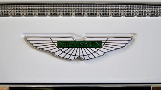 Aston Martin decal on vehicle
