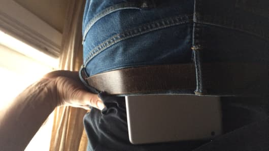 Yep, iPad in the pants — that's a thing. A weird but fascinating visual reminder of demand.