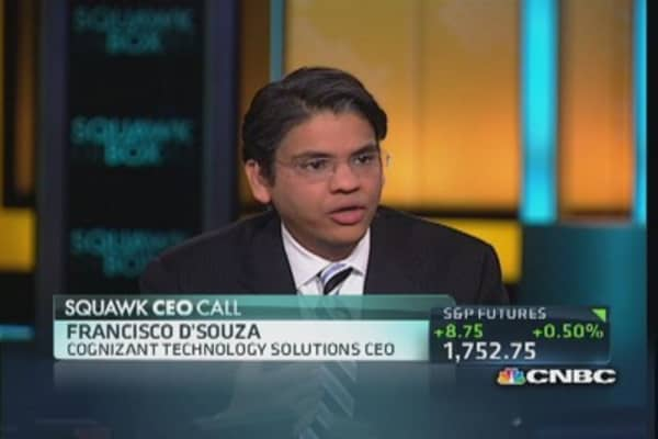 Cognizant CEO: Tech in a 10-year cycle