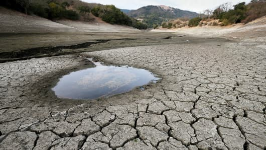 The Almaden Reservoir in San Jose, Calif., on Jan. 28, 2014.