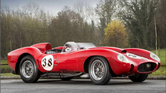 A 1957 Ferrari Testa Rossa recently sold in the U.K. for $39.8 million, according to people close to the deal.