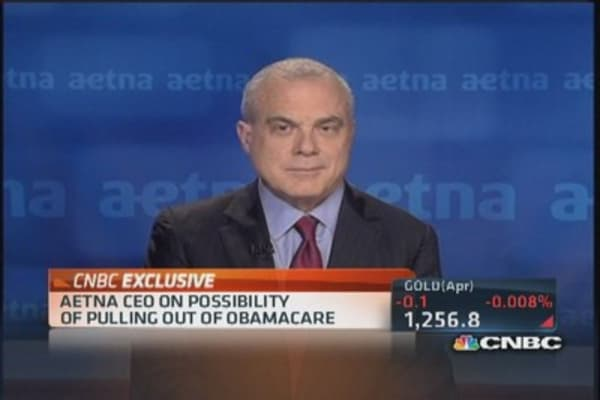 Aetna CEO:  Pulling out of Obamacare an option