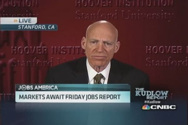 Market awaits Friday jobs report