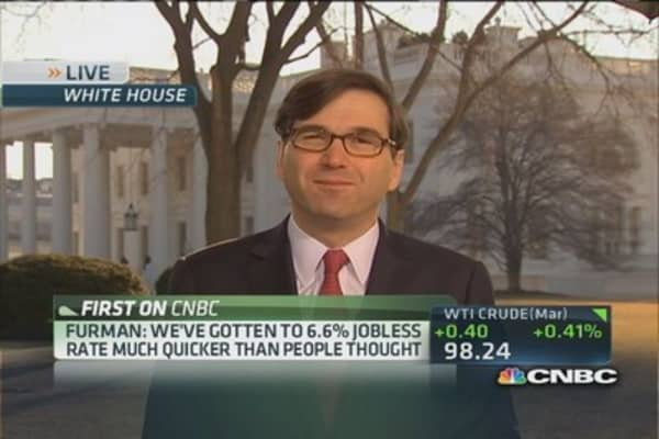 White House reaction to jobs report: Furman