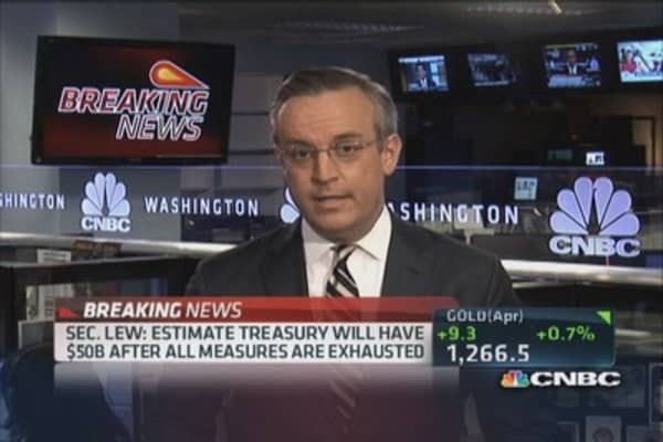 Treasury to take 'extraordinary measures'