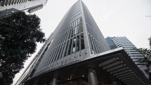The SGX Centre, which houses the Singapore Exchange Ltd. headquarters, stands in Singapore, on Tuesday, Jan. 21, 2014.