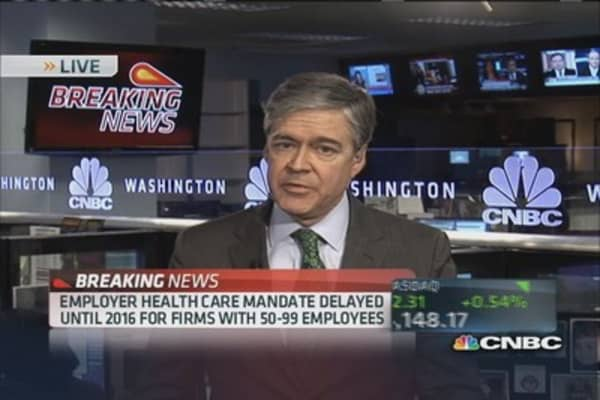 Employer health care mandate delayed