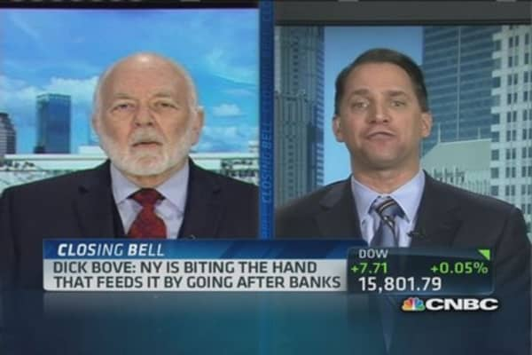 NY driving banks out: Bove