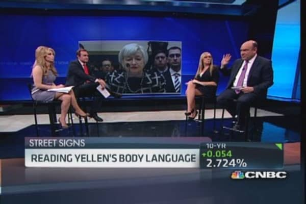 Power of Yellen's body language