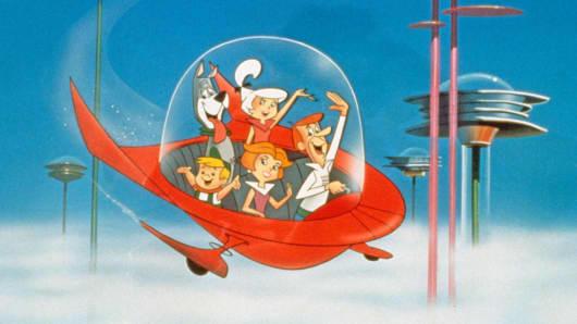 """The Jetsons"" bop around Orbit City, circa 1962."