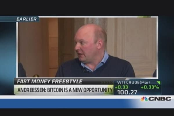 Marc Andreessen sings Bitcoin's praises