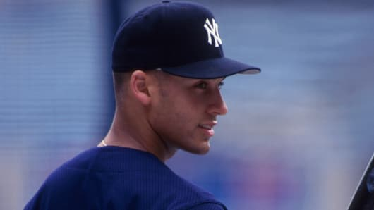 New York Yankees shortstop Derek Jeter as a rookie in 1995.